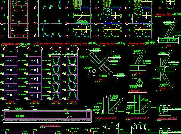 نقشه کشی سازه فولادی