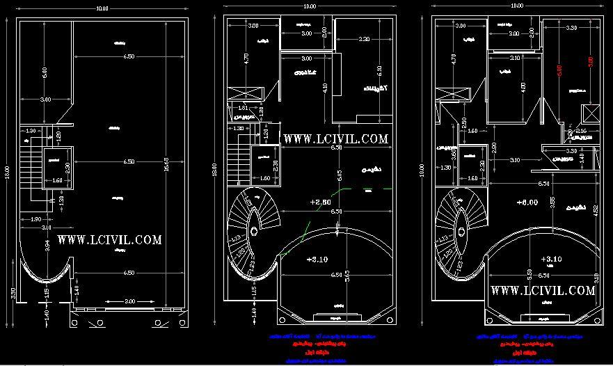 نقشه معماری دوبلکس