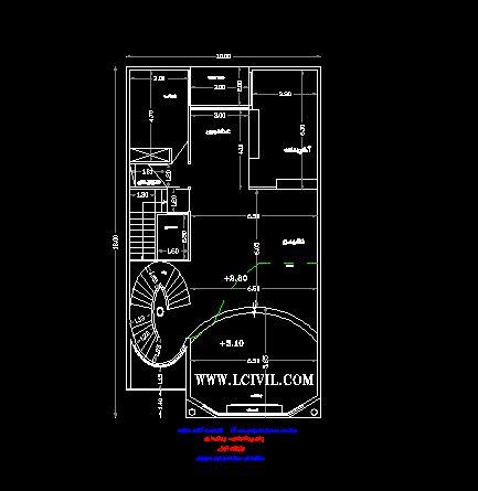نقشه معماری دوبلکس مسکونی زیبا