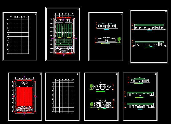 نقشه سوله | نمونه نقشه معماری و جزئیات سازه سوله