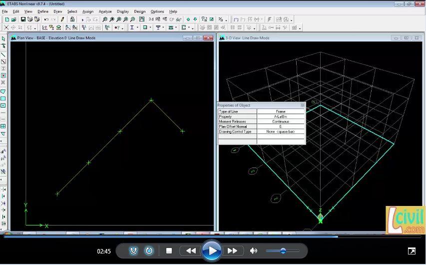 آموزش وارد کردن نقاط از اکس به ایتبس | کمان و منحنی در ETABS
