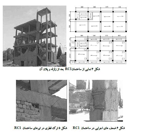 تحلیل دینامیکی غیر خطی | ارزیابی دو ساختمان در زلزله بم به روش تحلیل دینامیکی