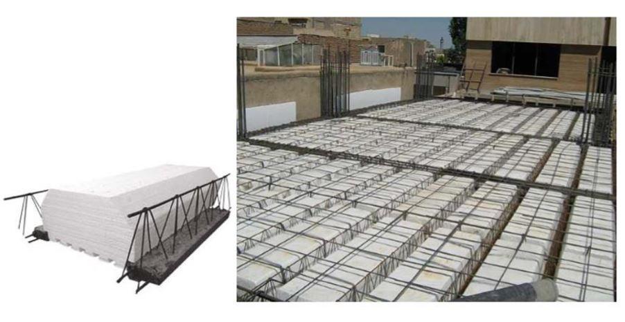 طراحی و مدلسازی سقف تیرچه بلوک و کرومیت در ETABS