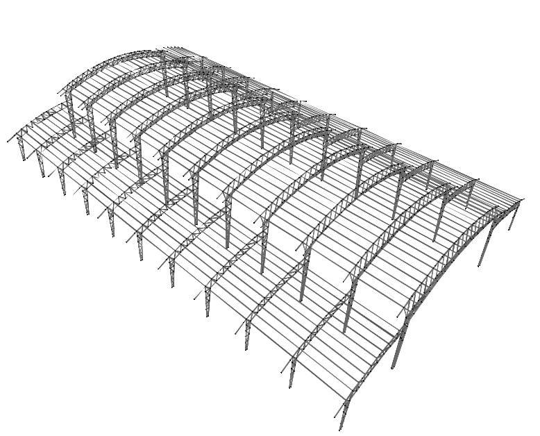 طراحی سوله یا سقف خرپایی و قوسی